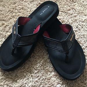 Coach Black Flip Flops